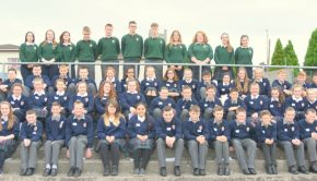 Pictured above are our new 1st years with their Prefect mentors.
